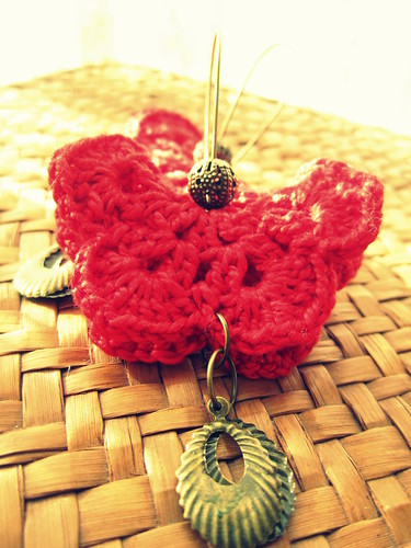 butterfly earrings by Bohemian Hooks