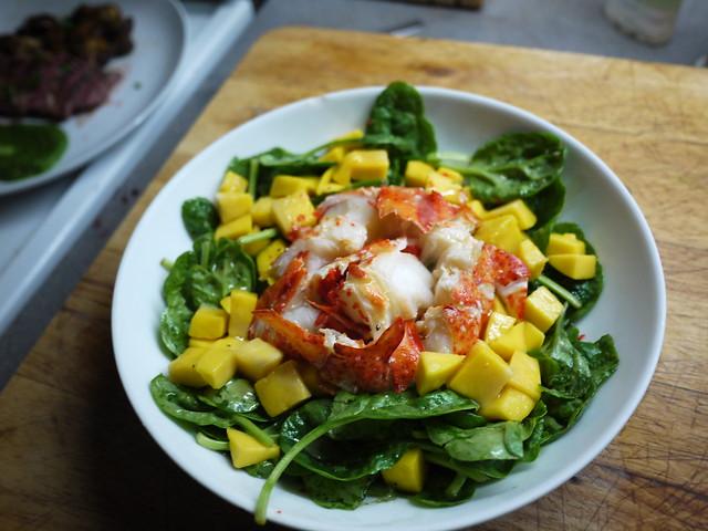 龍蝦芒果菠菜沙拉