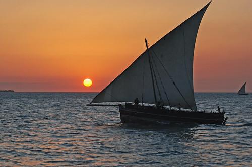 africa sunset tanzania zanzibar stonetown dhow unguja tauck harveybarrison hbarrison
