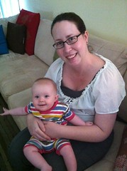 B and Auntie Kim, 6 months and 7 days