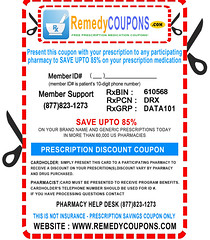 Remedy Coupons for substantial savings on your prescribed medications