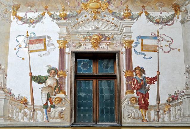 Romania-1521 - Courtyard Painting