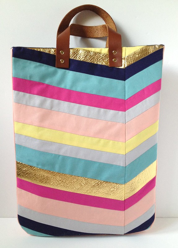 Art-Inspired Chevron Tote Bag 19