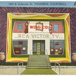 Wing Co. ...RCA Victor..TVâ¦, 1041 E. Colorado St., Pasadena, California