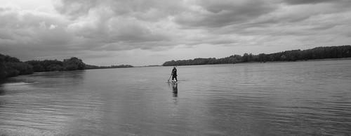 Donau, Hungary, City; Komarno #Sup #Paddling by @heidenstrom