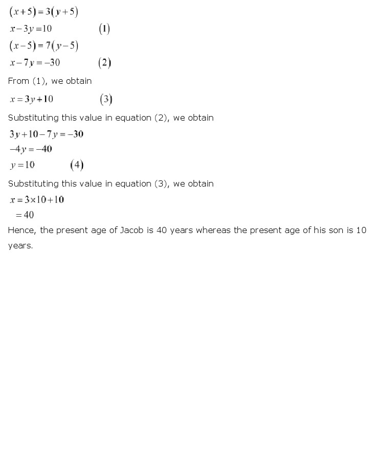 NCERT Solutions for Class 10th Maths Chapter 3 – Pair of Linear Equations in Two VariablesCERT Solutions for Class 10th Maths Chapter 3 – Pair of Linear Equations in Two Variables