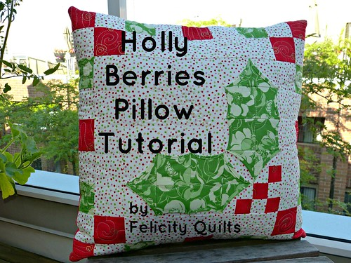 Holly Berries Pillow