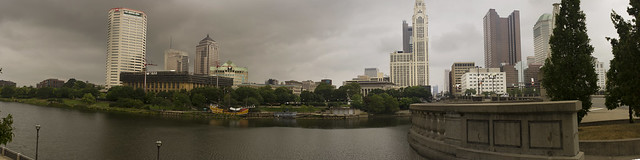 Across the river, downtown Columbus, OH