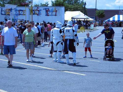 It ain't a geek event until some Storm Troopers show up