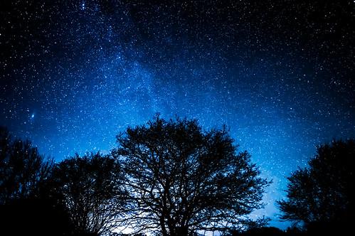 night nuit stars étoiles blue sky ciel pose longue nikon d3200 hiver iso bleu bretagne cotes darmor