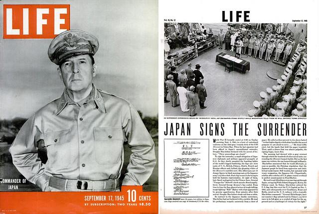 LIFE Magazine September 17, 1945 (1) - COMMANDER OF JAPAN - JAPAN SIGNS THE SURRENDER