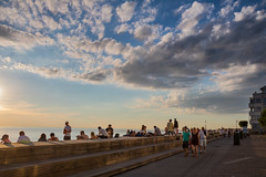 People enjoying the Summer evening