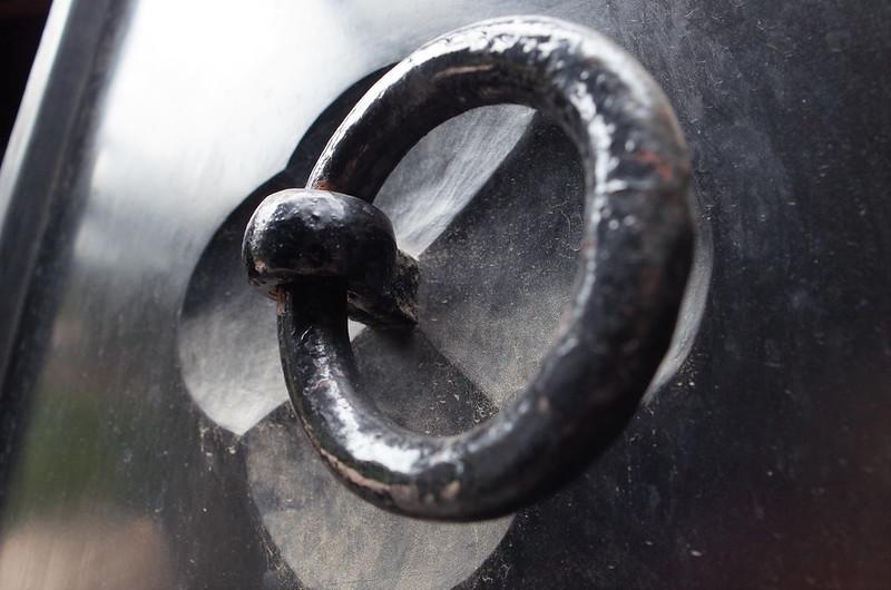旧江戸川乱歩邸土蔵(幻影城)の扉の把手