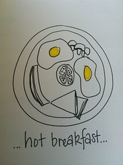 Hand drawn breakfast