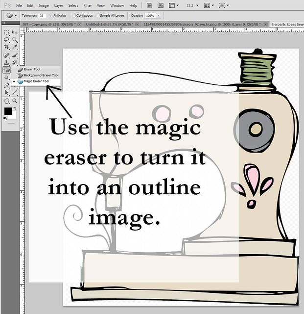 make coloured image into an outline image