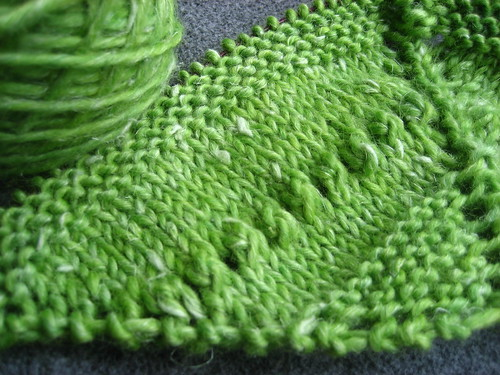 French spring green shawl