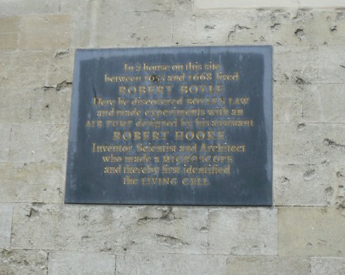 Boyle & Hooke Plaque, Oxford, Oxfordshire