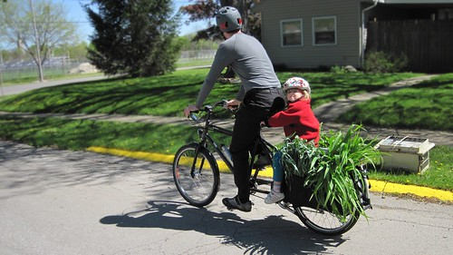 Xtra plants? no problem for a cargo bike