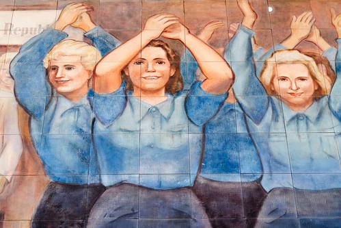 East German mural