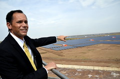 U.S. Consul General Peter Haas at the Inauguration of 600MW Solar Power generation facility at Charanka, Gujarat on April 19, 2012