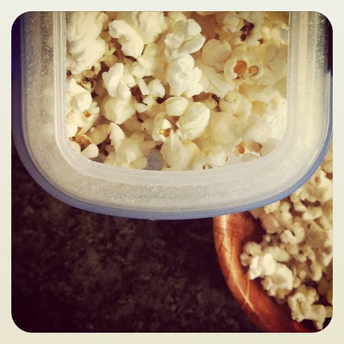 I just discovered how perfect a cereal container is for sweet n sour popcorn!