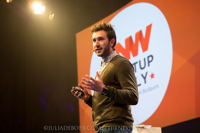 James Norris, speaking about DeadSocial at The Next Web Conference in Amsterdam
