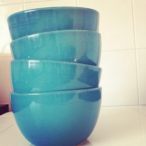 New aqua bowls, love.