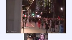 Montreal Student Protest Apr 27 LIVE Google+ Hangout On Air - pix 03