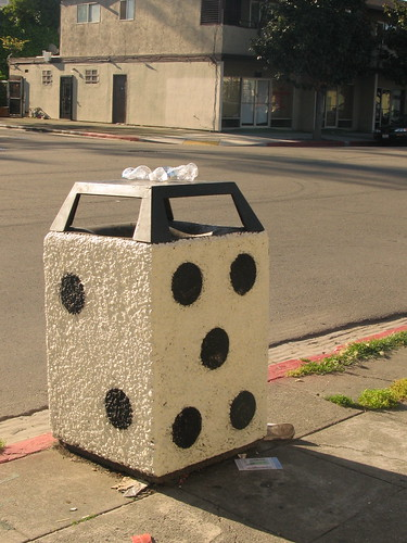 Dice Trash Can on MLK by Morgan Jones