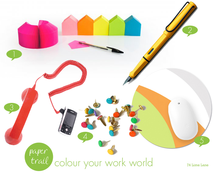 {paper trail} colour your work world