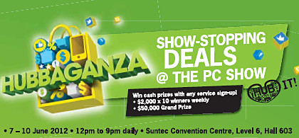 Check out StarHub's PC Show 2012 promotions for mobile and fibre broadband, smartphones and tablets, as well as cable TV.