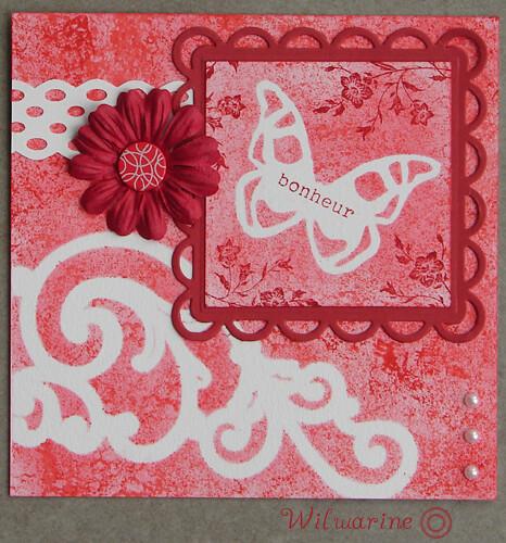 carte d'anniversaire rouge
