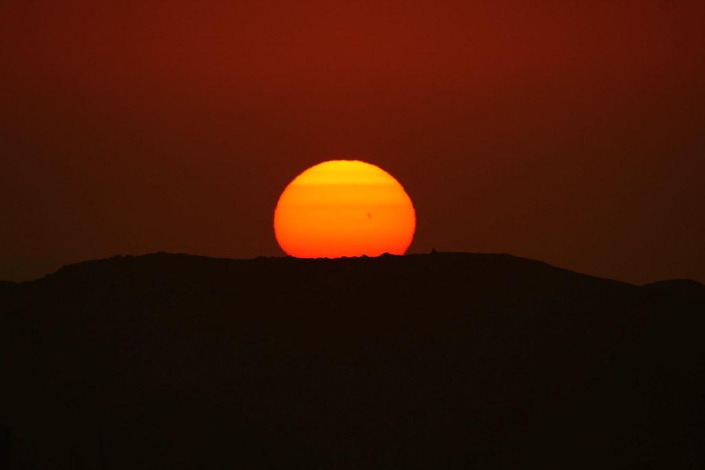 Nazca sunset.