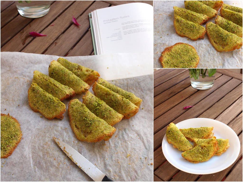 Pistachio Tuiles Recipe — Dishmaps