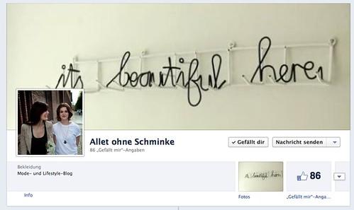 Allet ohne Schminke auf Facebook