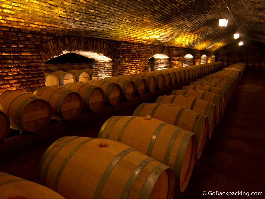 Barrels fill the Casillero del Diablo (Devil's Locker)