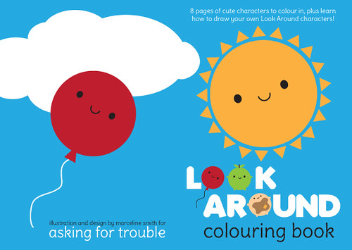 Look Around colouring book