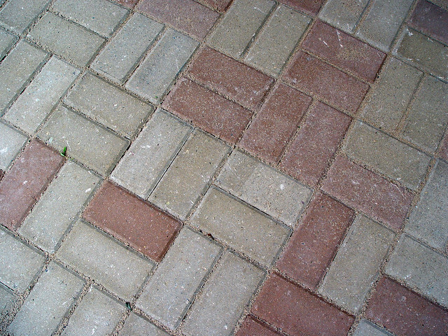 holland pavers in two colors