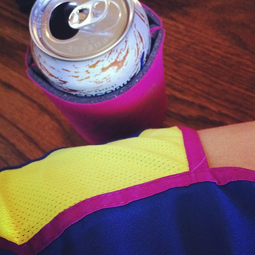 {Day 30} loud...like my new running {oh let's be honest, WALKING} shorts...that happen to march my koozie! #mypersonality #mayphotoaday