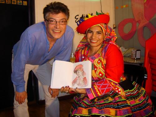 Con Sandra Meca