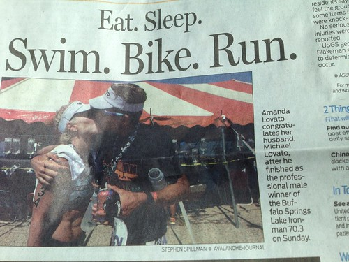 Swim. Bike. Run. Kiss!