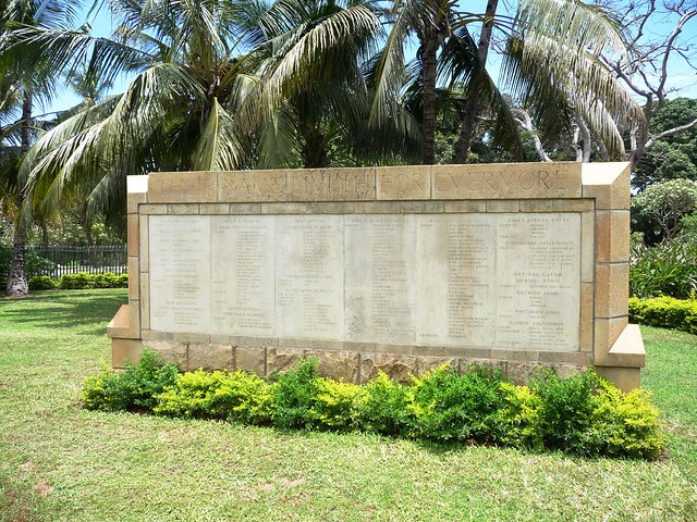 British & Indian Memorial panels commemorating dead KAR Askari