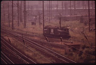 Railroad Switching Yards Just West Of Center City, Along The Schuykill Expressway, August 1973