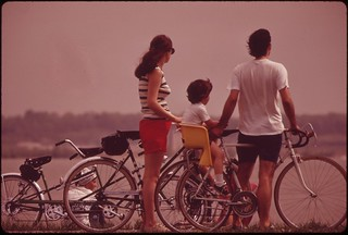 On The Bicycle Path Along The George Washington Parkway Which Is In The Glide Path To National Airport, April 1973