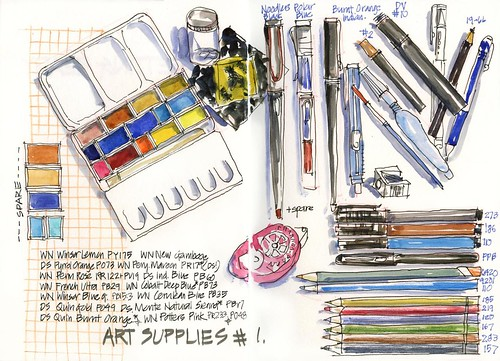 101_01 Art Supplies 1 by borromini bear
