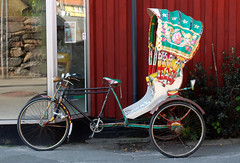 rickshaw, wheel, vehicle, land vehicle,