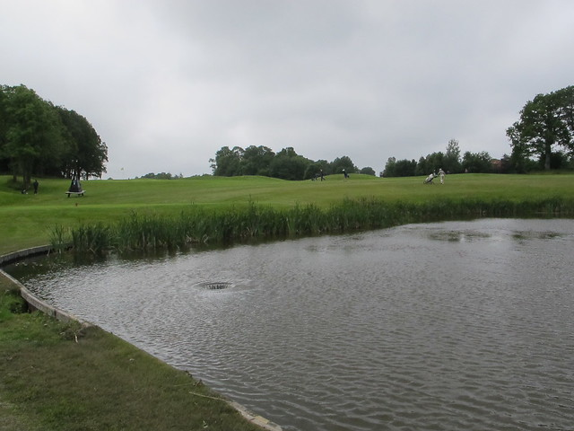 Water hazard with cool draining system at Larvik golfklubb