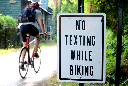 No Texting While Biking