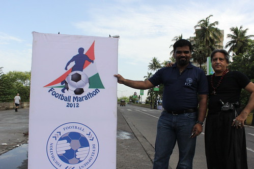 Sudheesh Kunnar Of Football Development Foundation ..Football Marathon 2012 Shot By Marziya 4 Year Old by firoze shakir photographerno1