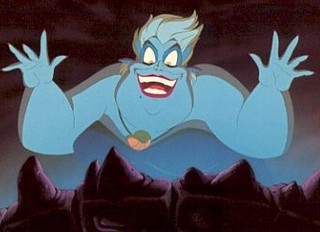 A still of Ursula from the Little Mermaid